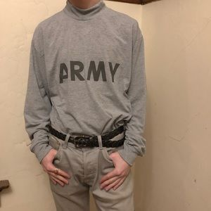 MOCK NECK ARMY TEE